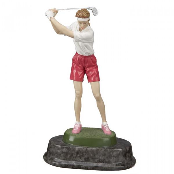 Figur Golf Sportpokal Trophy Damen Hochwertig Gefertig