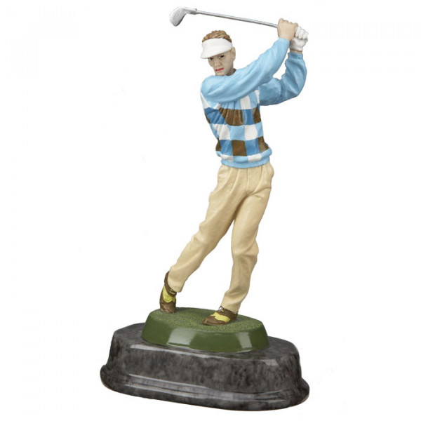 Hochwertige bemalte Golf Figur Herren
