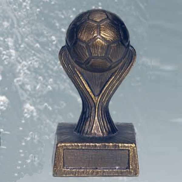 Exklusive Fußballtrophäe Siegespokal Champion League Metalloptik