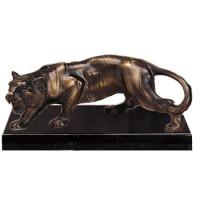 Edle Bronzeoptik Figur Tiger Raubkatze Tierpokal Trophäe
