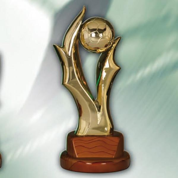 Sport Figur Fußball Ehrenauszeichnung Trophäe Edle Goldoptik