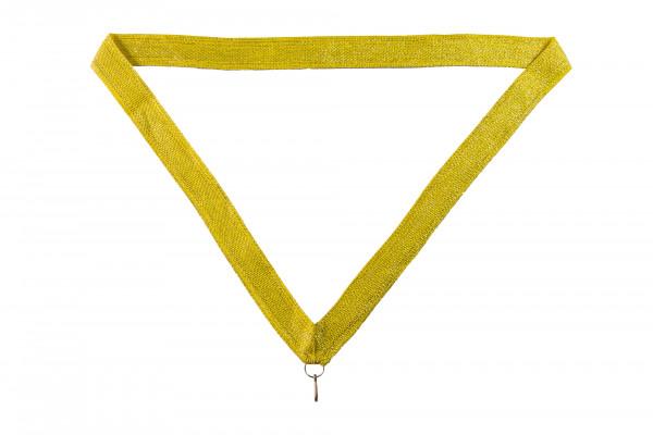 Halsband - Medaillenband gold