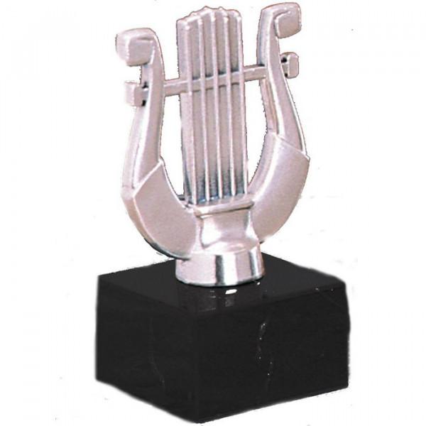 Figur Harfe Instrument Musikpreis Verein Edle Silberoptik