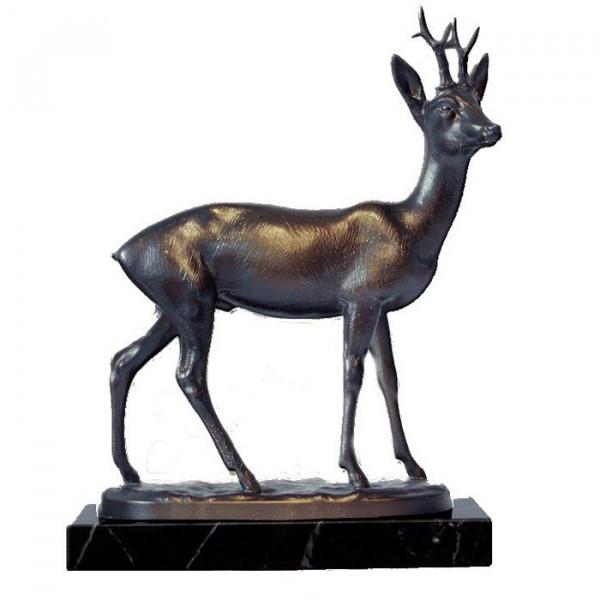 Elegante Figur Rehbock Ehrung Edles Bronzedesign