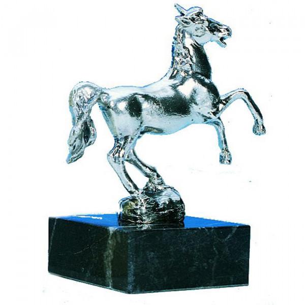 Edle Figur Wild Pferd Ross Hochwertige Silberoptik Siegerpokal Trophy