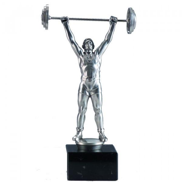 Figur Gewichtheben Kraftsport Verein Herren Pokal Trophy