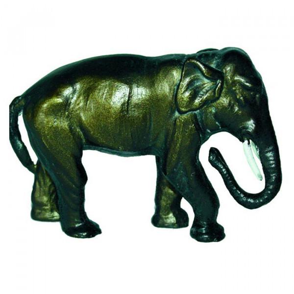 Figur Elefant Dompteur Trophäe Edles auf Sockel