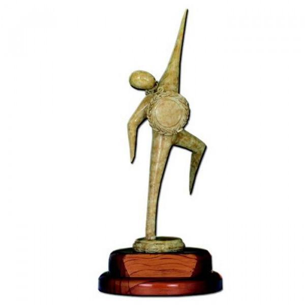 Siegerfigur Sportauszeichnung Vereinstrophäe Award Edle Holzoptik