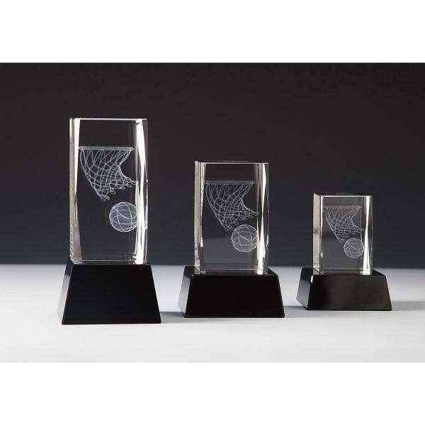 Quader Sockel Kristallglas Basketball Charles