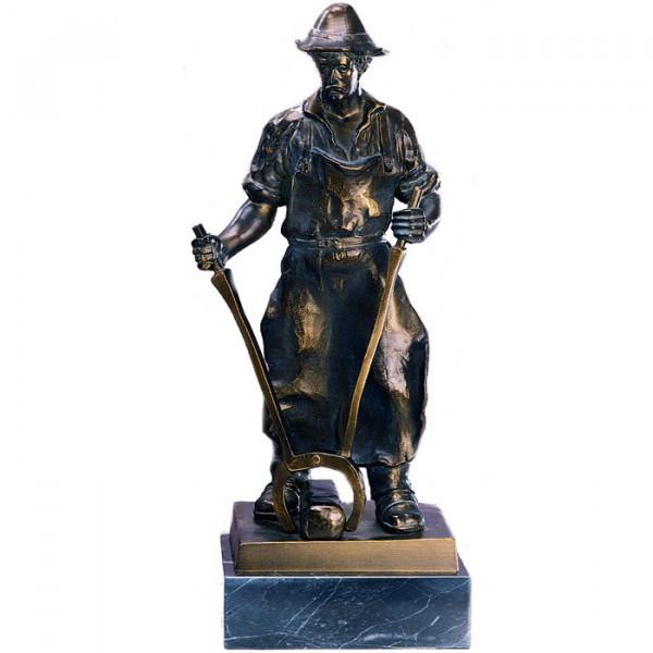 Metall Figur Hüttemann Handwerk Auszeichnung Trophäe