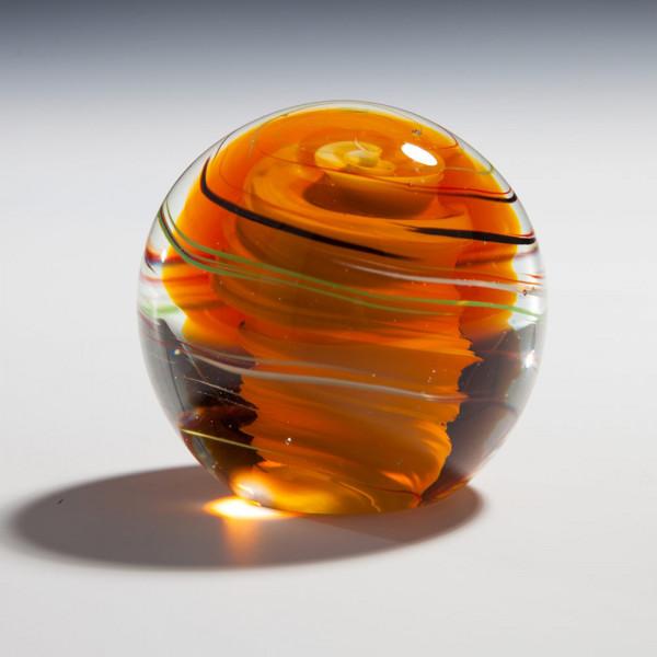 """Kristallglas Kugel """"Goldener Wirbel"""""""