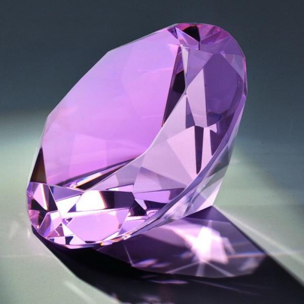 """Kristallglas Diamant """"Pink Diamond"""""""
