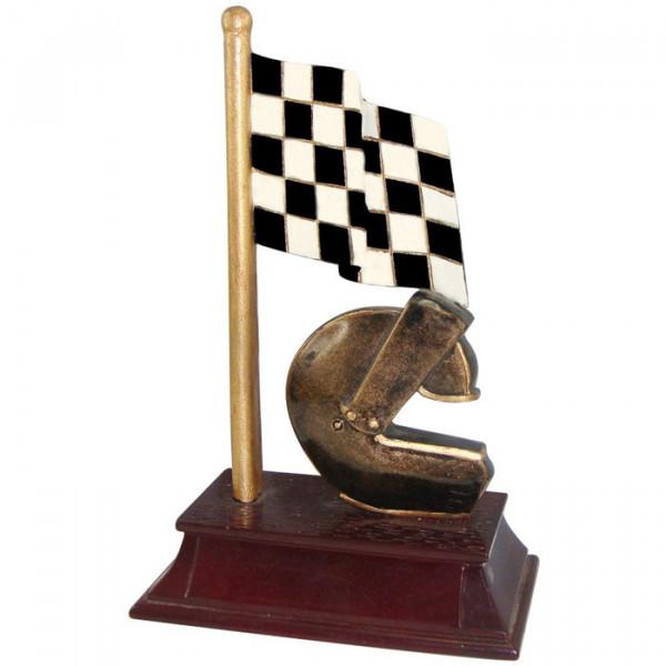 Siegerfigur Motorsport Zielflagge Verein Auszeichnung Ehrenpreis