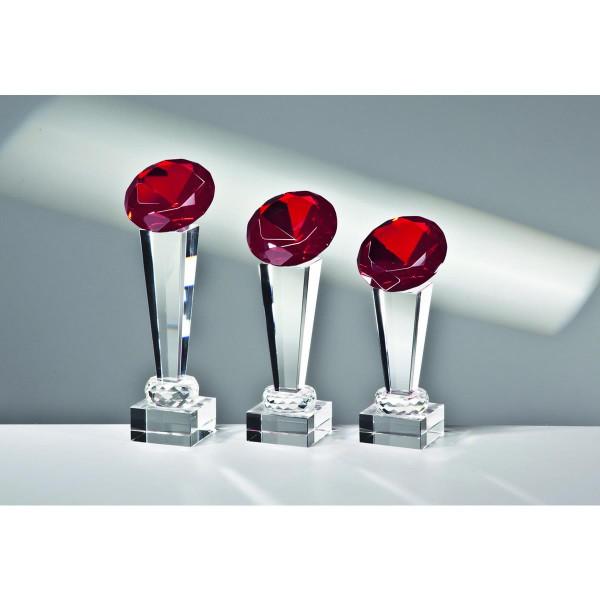 """Kristallglas Säule Diamant """"RED"""""""