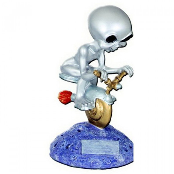 Figur Alien Motorsport Racing Mini Bike Rennen Siegerpokal
