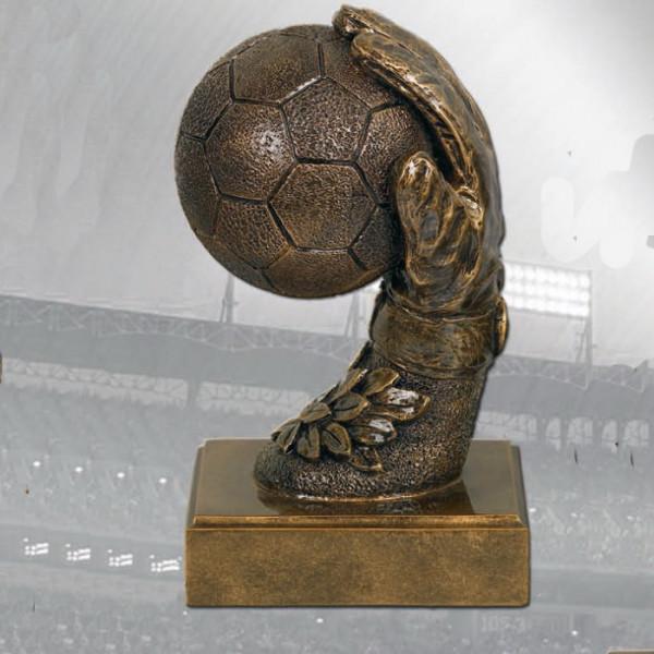 Sport Figur Torwart Fußball Außergewöhnlicher Ehrenpreis Pokal
