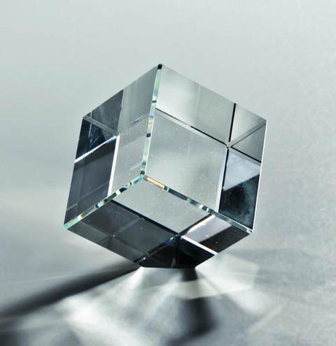 "Kristallglas Würfel ""Clear Quadro"""