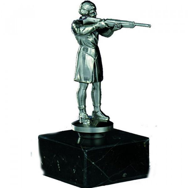Figur Jäger Damen Edle Silberoptik Ehrenpreis Siegerpokal