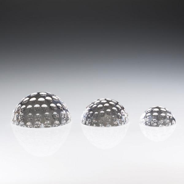 "Kristallglas ""Halber Golfball"""