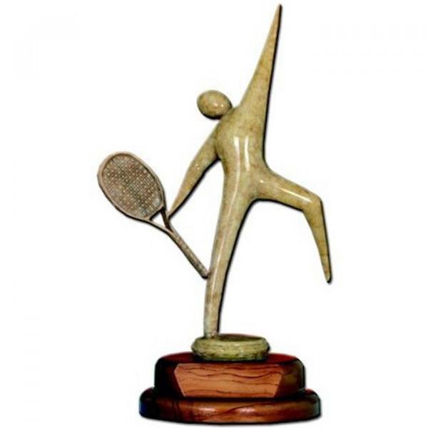 Siegerfigur Tennis Verein Trophy Holzdesign