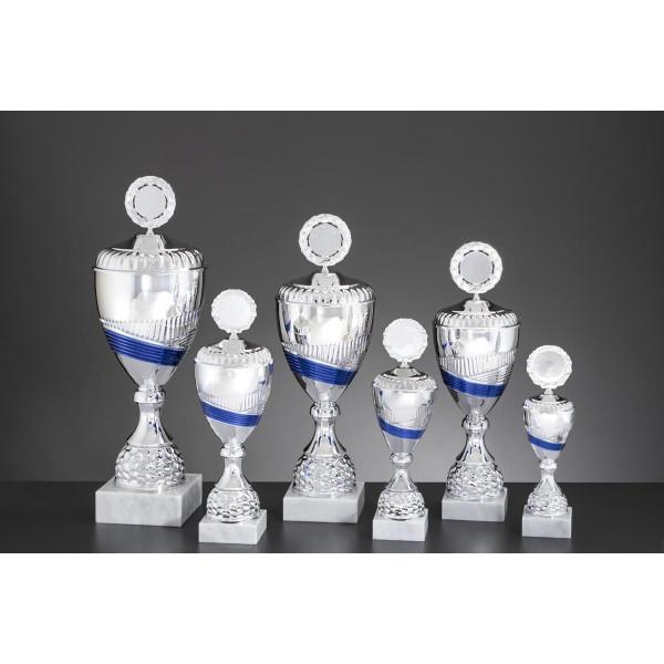 Pokal Silber-Blau Esther