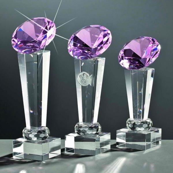 """Kristallglas Säule Diamant """"ROSE"""""""