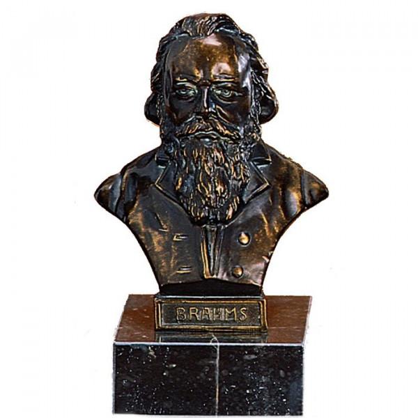 Edle Büste vom Dirigent Johannes Brahms in Bronzeoptik