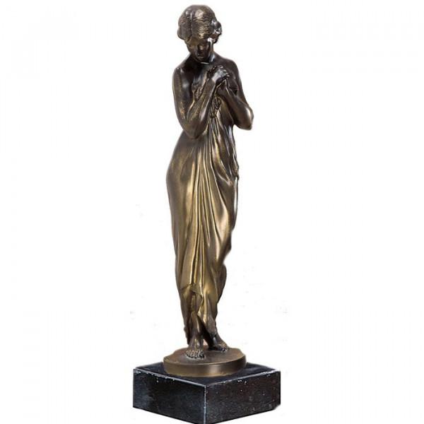 Hochwertige Figur Jungfrau Verschämt Mädchen Antike