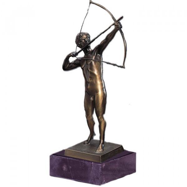Exklusives Figur Bogenschütze Amor Trophäe Pokal Ehrung