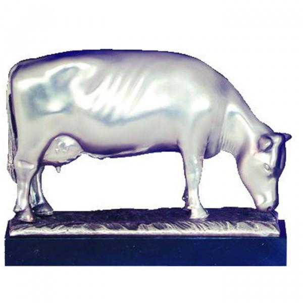 Edles Silberdesign Grasende Kuh Milchkuh Bauernhof Auszeichnung