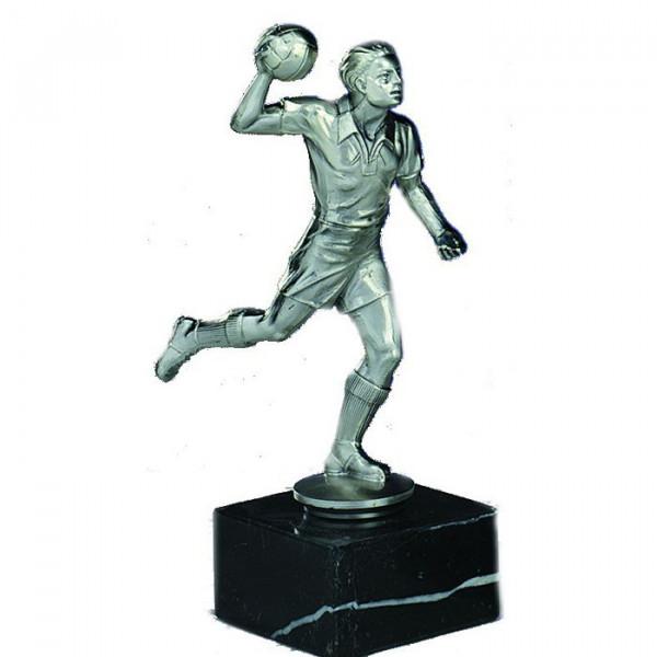 Sport Figur Handball Herren Siegerpokal Ehrung Silberoptik