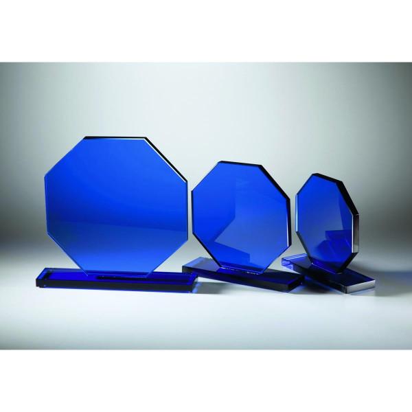 Trophäe Blue Octagon