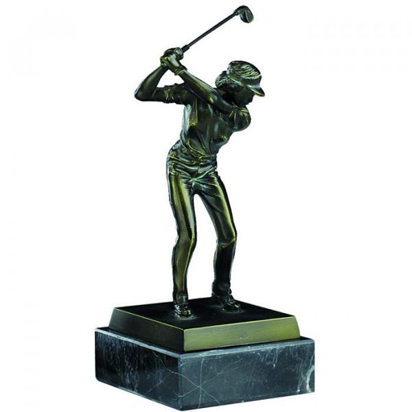 Sport Figur Mini Golf Damen Siegespokal Ehrung Edles