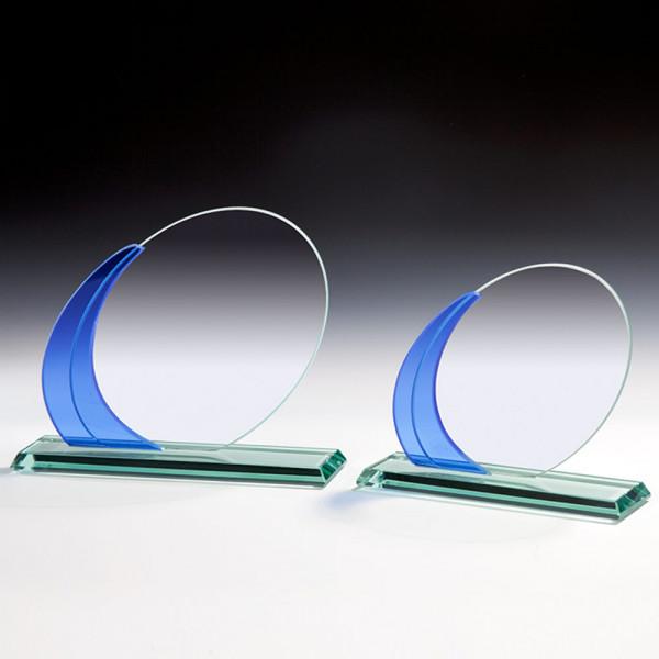 Glas Trophäe Blau e Verzierung Armand