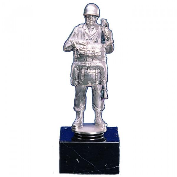Edle Soldaten Figur Fallschirmspringer Silberoptik Ehrung