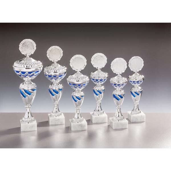 Pokal Silber-Blau Nora