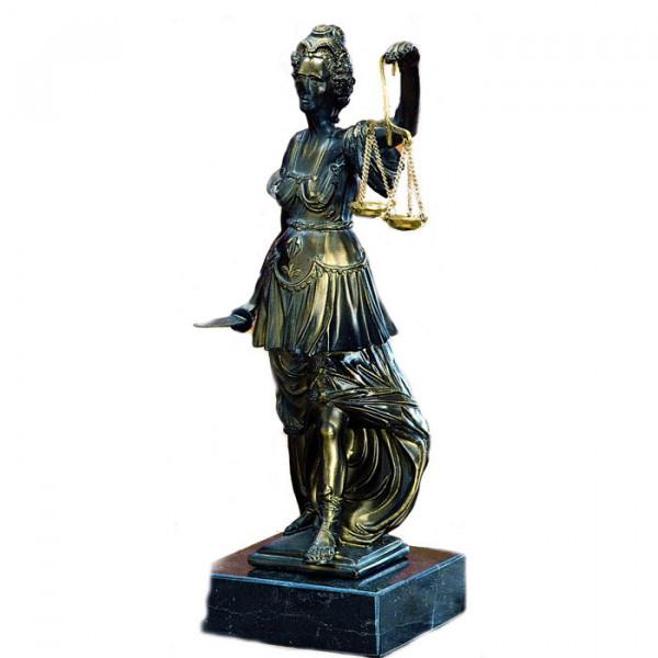 Außergewöhnliche Figur Justitia Antikes Rom Mythologie Jura Recht