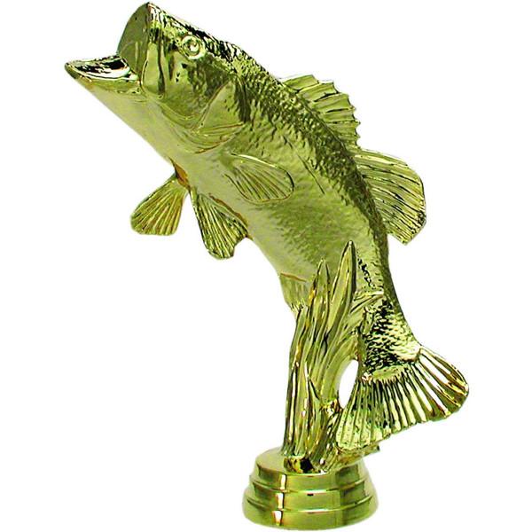 Pokal Angeln Figur Barsch Gold