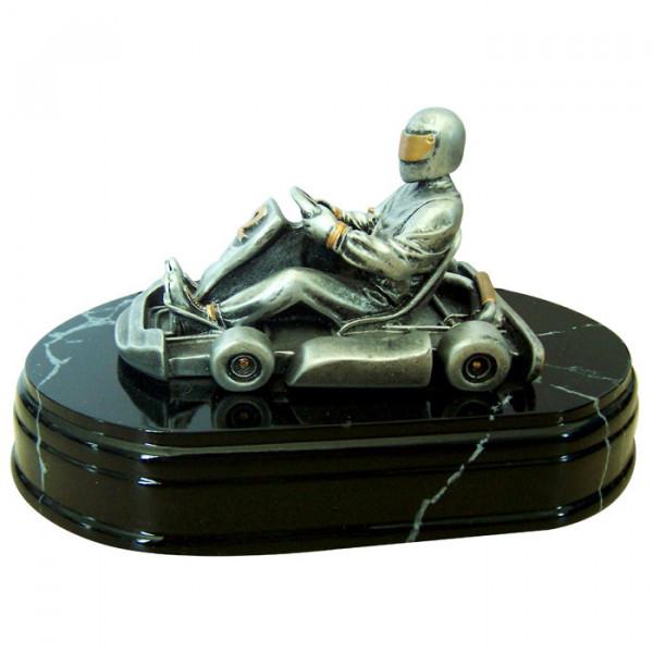 Figur Kart Rennen Motorsport Champion Cup Pokal Exklusives