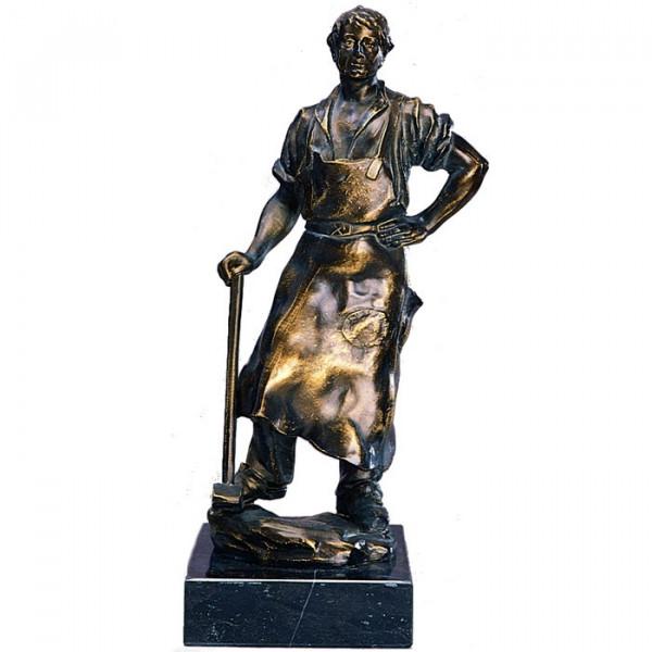 Metall Figur Schmied Herren Handwerkskunst Ehrung
