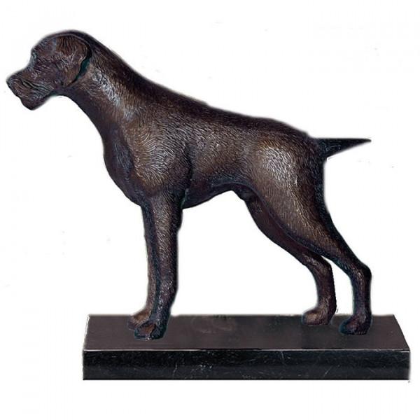 Anmutige Figur Hund Deutsch Drahthaar Wachhund Trophäe Pokal