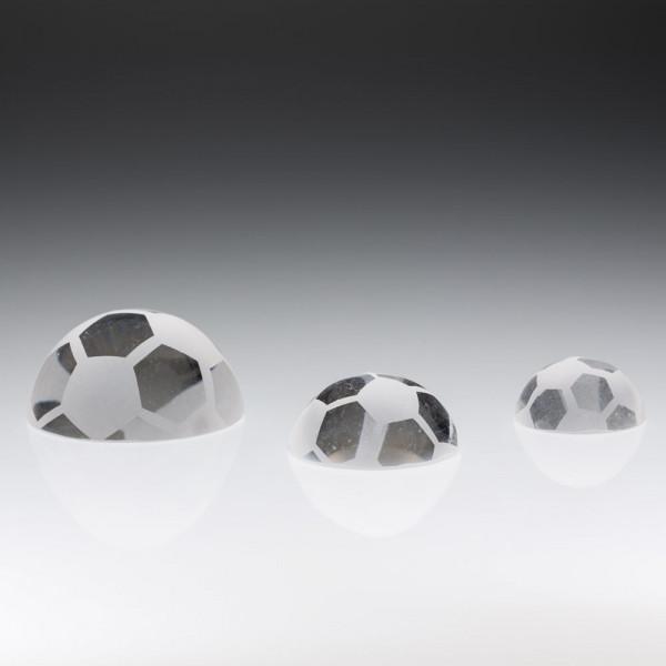 "Kristallglas ""Halber Fußball"""