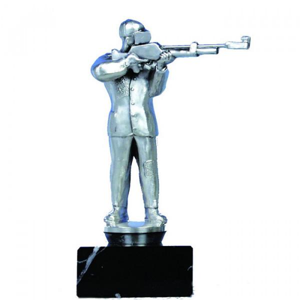 Figur Soccer Herren Torjäger Trophy Pokal Hochwertige Silberoptik