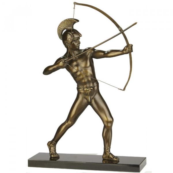 Figur Bogeschütze Antik Edles Sieger Ehrung