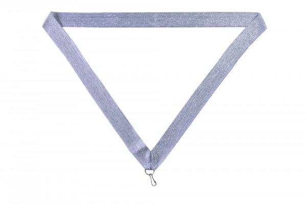 Halsband - Medaillenband silber