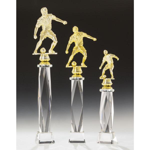 Gold Sockel Noblesseglas Fußballfigur Neal