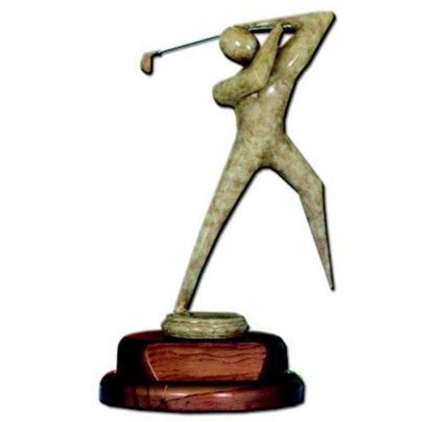 Sport Figur Golf Champion Cup Pokal Exklusives Holzdesign