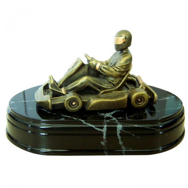 Figur Kart Rennsport Siegerpreis Trophy Award Hochwertiges