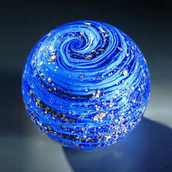 "Kristallglas Kugel ""Blaues Universum"""