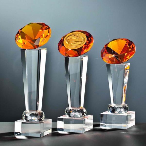 "Kristallglas Säule Diamant ""YELLOW"""